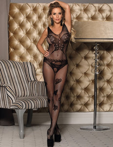 Butterfly Pattern Fishnet Bodystocking