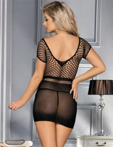 Sexy Black Netted Stocking Dress Lingerie