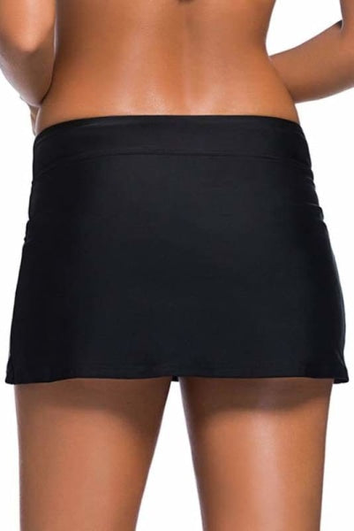 Black Skirted Swimsuit Bottoms