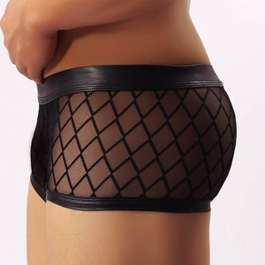 Diamond Design Men's Sheer Mesh Boxer
