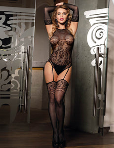 Long Sleeve Sexy Fishnet Bodystocking Lingerie