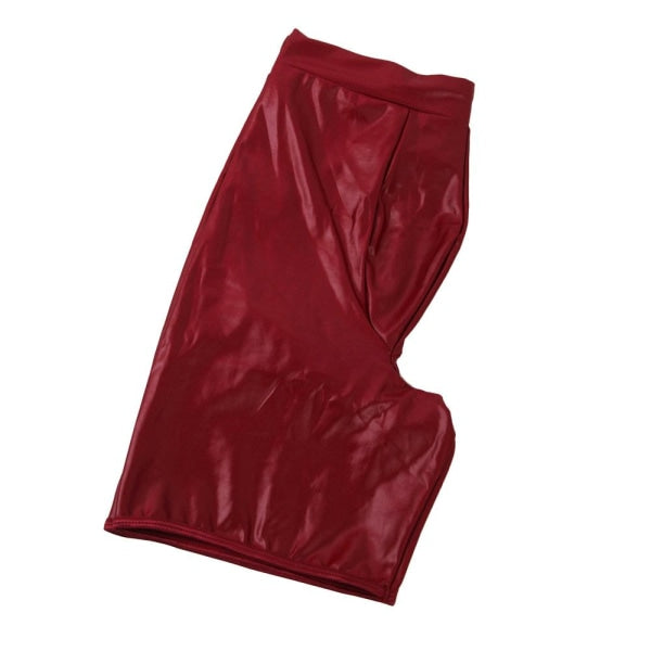 Red Wet Look Men's Sexy Underwear
