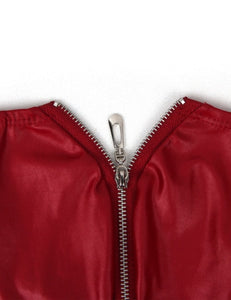 Red Zipper Front Sexy Faux Leather Underwear For Men