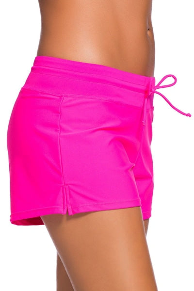 Hot Pink Swim Shorts for Women