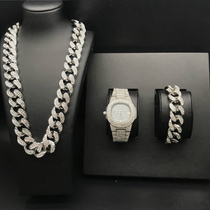 PREMIUM CUBAN BUNDLE - WHITE GOLD 24K (20MM)