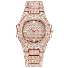 Load image into Gallery viewer, LUXURY WATCH ROSE GOLD 18K DIAMOND QUARTZ