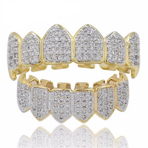 MOSAIC ICED OUT GOLD 18K DIAMOND GRILLZ