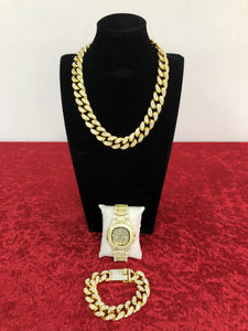 PREMIUM CUBAN BUNDLE - GOLD 24K (20MM)
