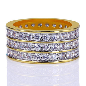 RING ICED OUT GOLD 18K DIAMOND