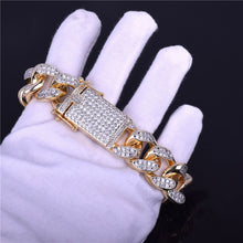 Load image into Gallery viewer, CUBAN BRACELET WHITE GOLD 18K DIAMOND