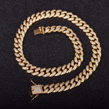 Load image into Gallery viewer, MIAMI ICED OUT CUBAN CHAIN - GOLD 18K (15MM)