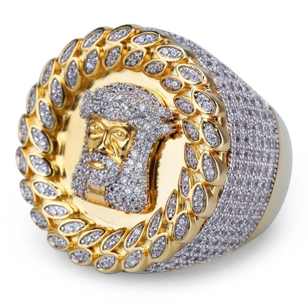 RING JESUS GOLD 18K DIAMOND