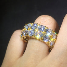 Load image into Gallery viewer, RING ICED OUT GOLD & WHITE GOLD 18K