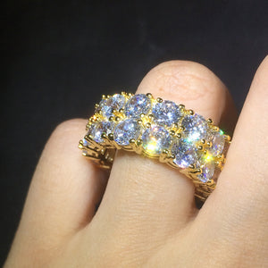 RING ICED OUT GOLD & WHITE GOLD 18K