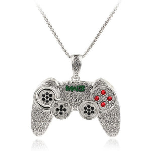 MW3 GAME CONTROLLER PENDANT WHITE GOLD 18K DIAMOND