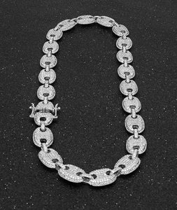 ICED WHITE GOLD 24K GUCCI CHAIN