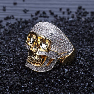 SKULL RING GOLD 18K DIAMOND