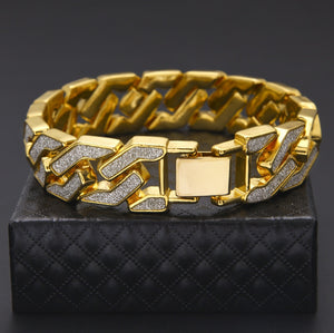 BRACELET CUBAN GOLD 18K DIAMOND