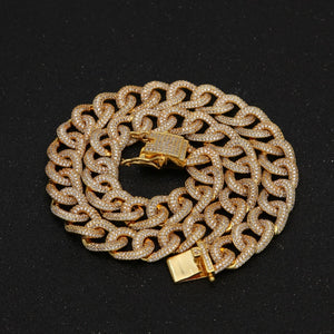 CUBAN CHAIN GOLD 24K DIAMOND