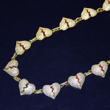 Load image into Gallery viewer, ICED BROKEN HEART CHAIN GOLD 18K DIAMOND