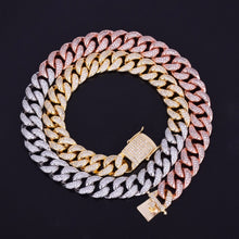 Load image into Gallery viewer, ICED OUT CUBAN CHAIN TRICOLORED 24K