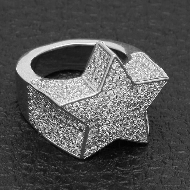 STAR RING WHITE GOLD 18K DIAMOND