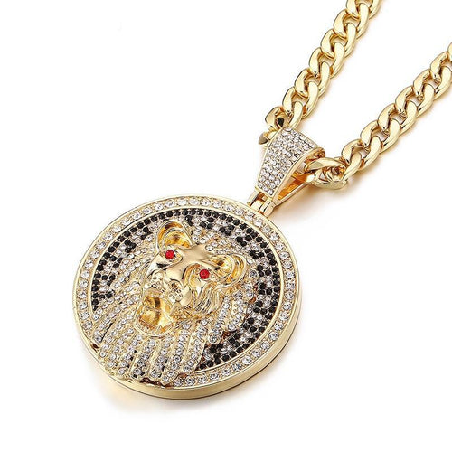 PENDANT LION GOLD 18K DIAMOND