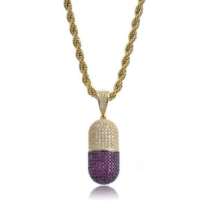 CAPSULE PENDANT NECKLACE GOLD 18K