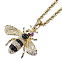 Load image into Gallery viewer, PENDANT NECKLACE BEE GOLD 18K
