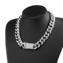 Load image into Gallery viewer, CUBAN CHAIN & BRACELET BUNDLE - WHITE GOLD 18K