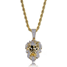 Load image into Gallery viewer, PENDANT LION ICED OUT GOLD 18K DIAMOND