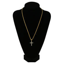Load image into Gallery viewer, CROSS PENDANT NECKLACE GOLD 18K DIAMOND