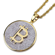 Load image into Gallery viewer, PENDANT BITCOIN GOLD 18K DIAMOND