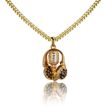 Load image into Gallery viewer, HEADSET MICROPHONE PENDANT WITH CHAIN GOLD 18K DIAMOND