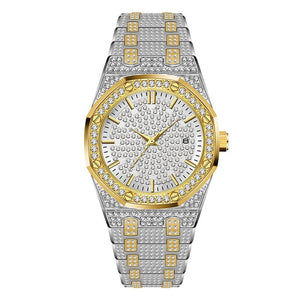WATCH WHITE GOLD AND GOLD 18K DIAMOND QUARTZ
