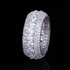 LUXURY ICED OUT RING WHITE GOLD 18K