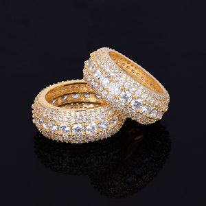 LUXURY ICED OUT RING GOLD 18K