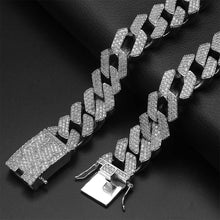 Load image into Gallery viewer, PRONG CUBAN CHAIN ICED OUT WHITE GOLD 24K