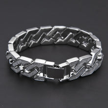 Load image into Gallery viewer, BRACELET CUBAN WHITE GOLD 18K DIAMOND