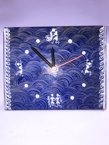 Warli table clock