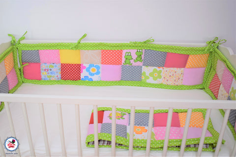 Protectii laterale patut bebe- Patchwork