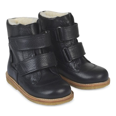 Angulus Tex Black Leather Boot