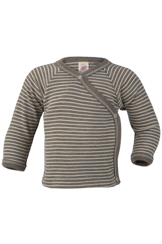 Engel Natur Striped Organic Wool/Silk X Top