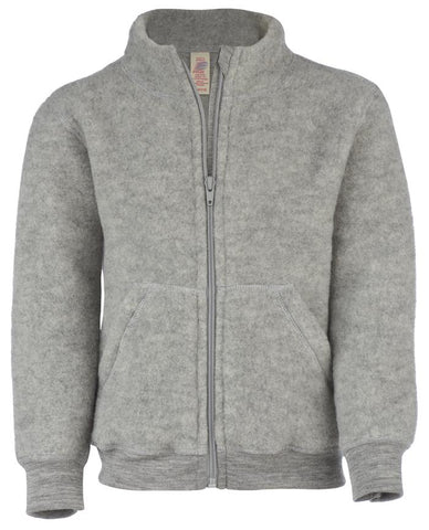 Engel Organic Merino Wool Fleece Jacket-zip