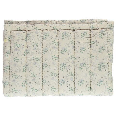 Camomile London Cornflower Minako Floral Crib Blanket