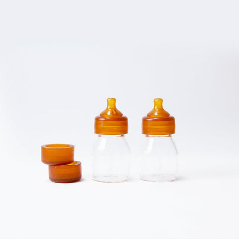 Glass baby bottle-mini quoddle newborn twin pack 5oz baby bottles