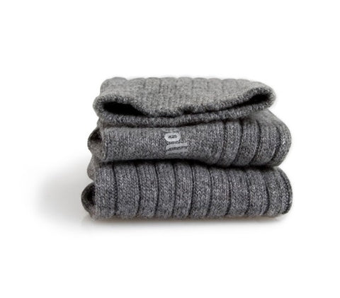 Collégien Chamois Wool and Cashmere Blend Ribbed Socks