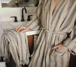 Odd Bird Mavis Handwoven Linen Adult Robe