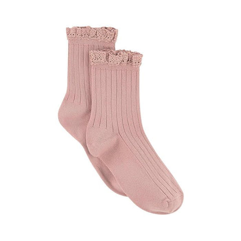 Collégien Lili Short Socks with Lace Trim