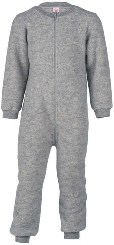 Engel Organic Wool Fleece Overalls with Zipper